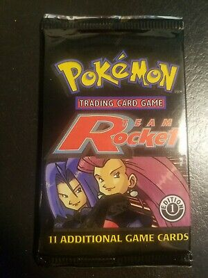 Pokemon Team Rocket 1st Edition Booster Pack Mint Sealed Chance 4 Dark Charizard