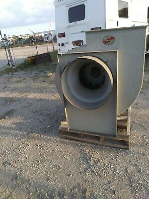 Hartzell Industrial Power Ventilator Exhaust Fan Squirrel Cage Blower 9000 Cfm