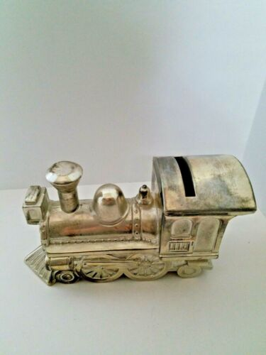 Vintage Train Engine Bank Silver Plated Rio Grande Federal Credit Union