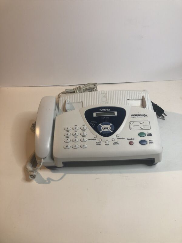 Brother FAX-565 Fax Machine POWERS ON BUT NOT FULLY TESTED Not Sure How It Works