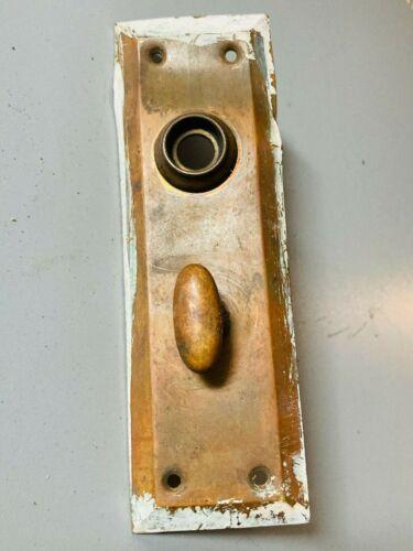 2 Vintage Mission Style Simple DOOR CLOSER PLATES Brass + Steel