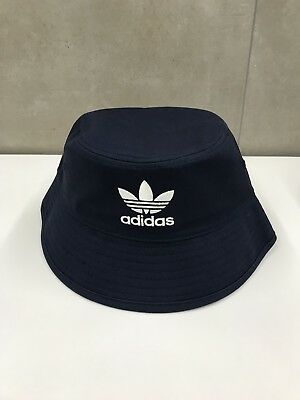 Adidas 90s Originals Trefoil Bucket Mens Headwear Hat - NAVY One Size (90s Headwear)