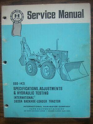 Ih Farmall International 3820a Backhoe Loader Tractor Service Manual