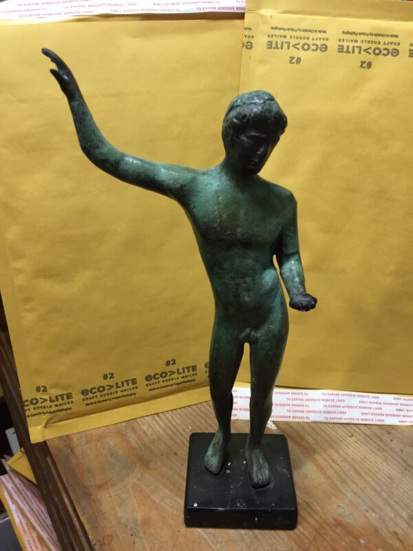 Greek Marathon Youth bronze statue Makes a Great Holiday Gift