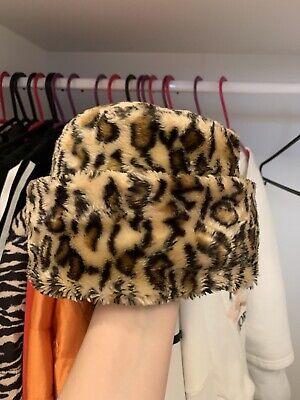 Vintage Leopard Print Faux Fur Hat