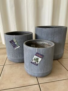 3 x pots as new, used for display, light weight