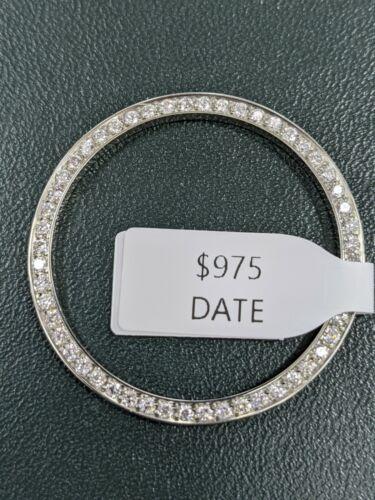 Custom Diamond Bezel 1.05 Cts. Set in Stainless Steel For Rolex Mens 34MM Date