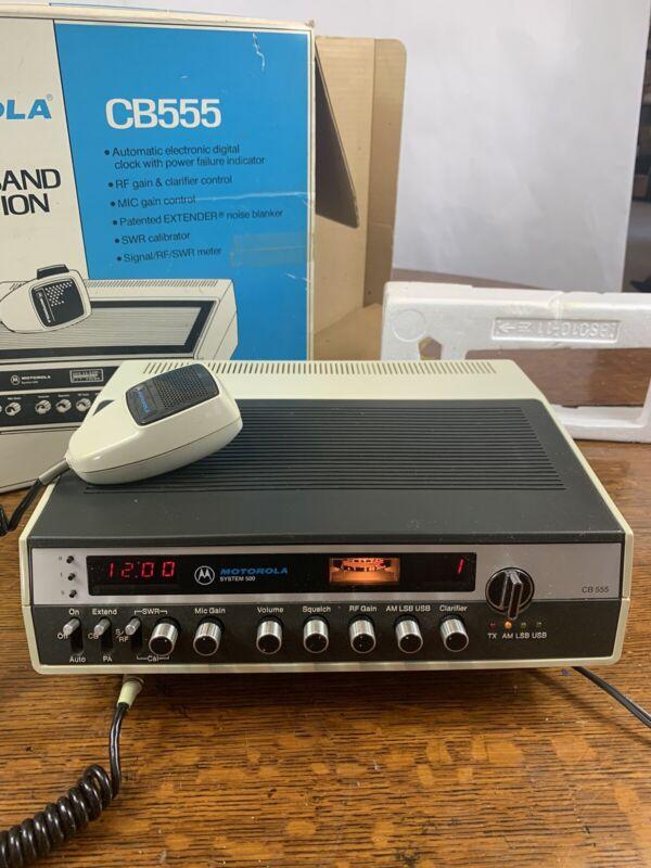 Motorola System 500, 40 Channel AM/SSB Base Station CB 555 CB555 Works W/Box