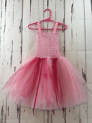 Fairy Dreams Tutu Dress Girls Small Pink Sleeveless Sequins Tulle Skirt NWT