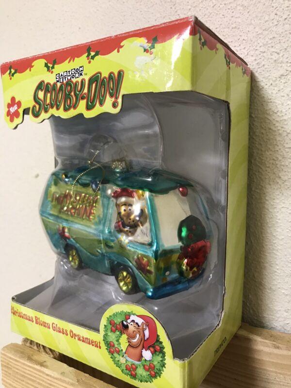 NIB 2002 Cartoon Network Scooby Doo Blown Glass Christmas Ornament