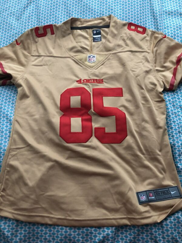 Gold George Kittle Women's Jersey XL (fits like a M/L) ACCEPT PAYPAL ONLY