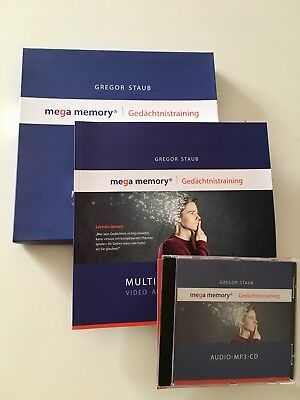 Mega Memory Gedächtnistraining, Staub -Arbeitsbuch, MP3, Online Code,NEU! NP 250