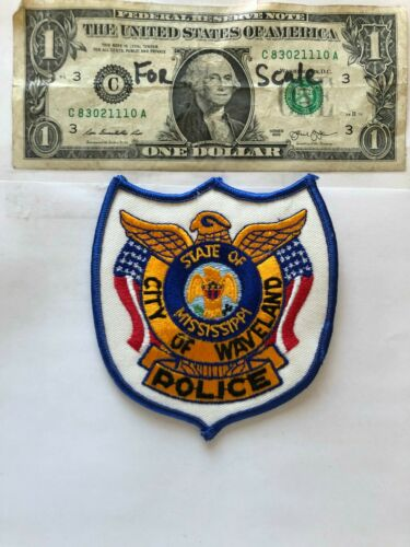 Waveland Mississippi Police Patch Un-sewn great condition