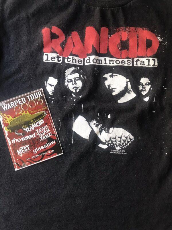 2009 Rancid Black Shirt M Let Dominoes Fall 2003 Sticker Warped Tour Vans