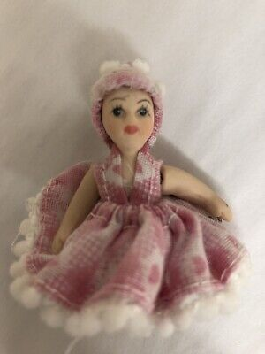 Used, Miniature Porcelain Doll Tiny Adjustable Arms & Legs Dollhouse Doll for sale  Port Orchard