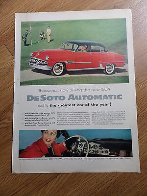 1954 DeSoto Firedome Ad PowerFlite