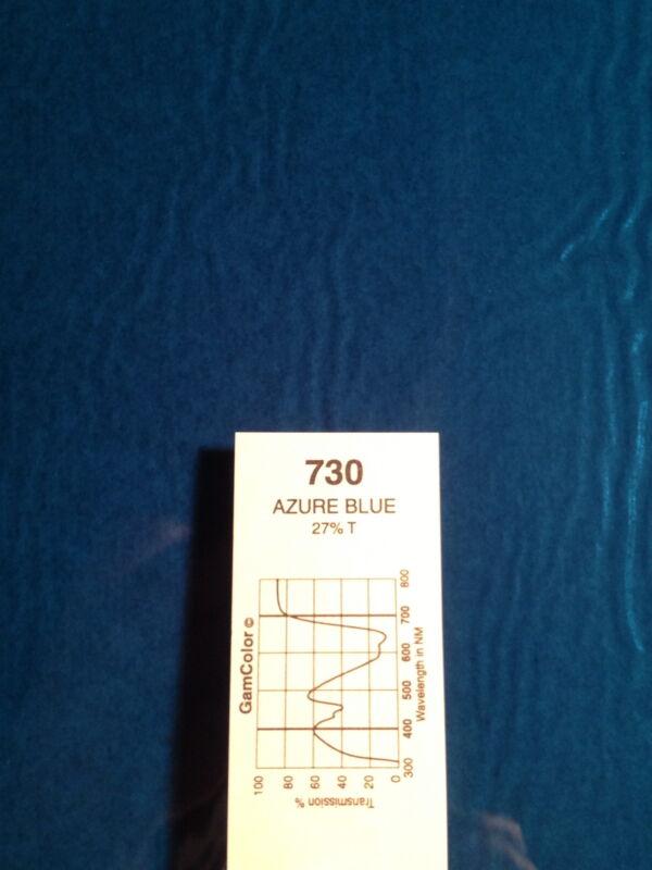 """GAM Color 730 Azure Blue  Lighting Gel Filter Sheet  20"""" x 24"""""""