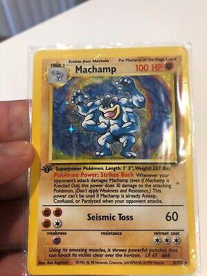 1st Edition Holo Machamp - 8/102 - Original Owner - Always Sleeved