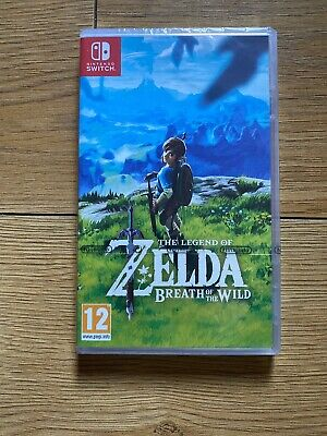 NINTENDO SWITCH GAME THE LEGEND OF ZELDA BREATH OF THE WILD- NEW - Free Postage