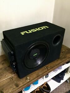 """12"""" FUSION subwoofer in ported FUSION box with ALPINE amp"""