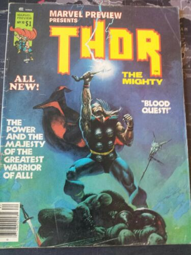 MARVEL PREVIEW #10 (Marvel 1975) THOR The Mighty