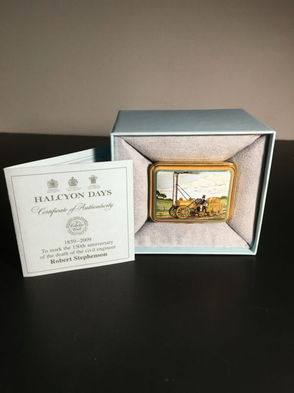 Halcyon Days Enamel Trinket Box Robert Stephenson Ltd Edition 4/75
