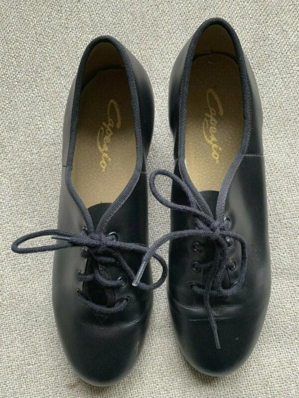 Capezio Tele Tone Tap Shoes Black Excellent Condition Size 9