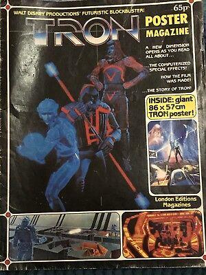 1982 movie poster reprint Original Tron