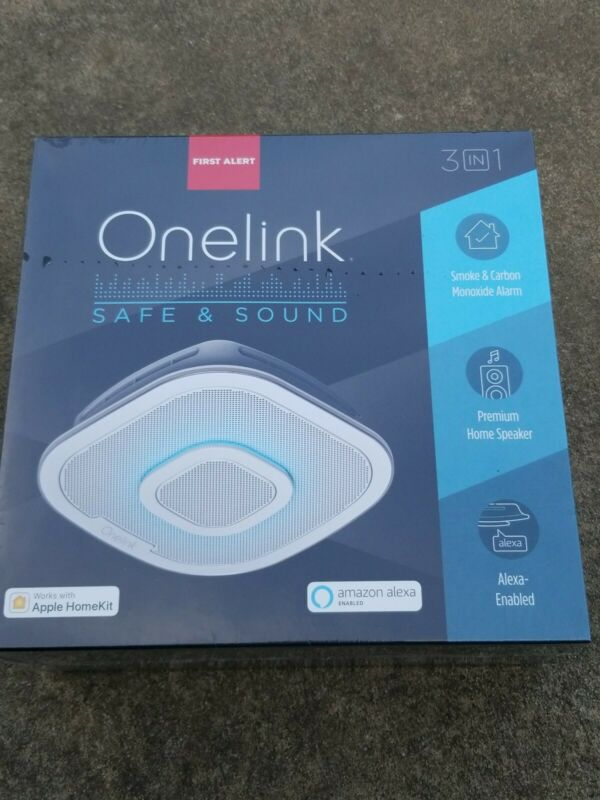 Alexa Enabled Smoke Detector Carbon Monoxide Detector Alarm Home Speaker