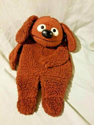 Fisher Price Vintage Muppets Rowlf Puppet Jim Henson Plush 1977 FREE SHIP!