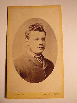 Carlisle & Penrith - junger Mann im Anzug - Portrait / CDV England