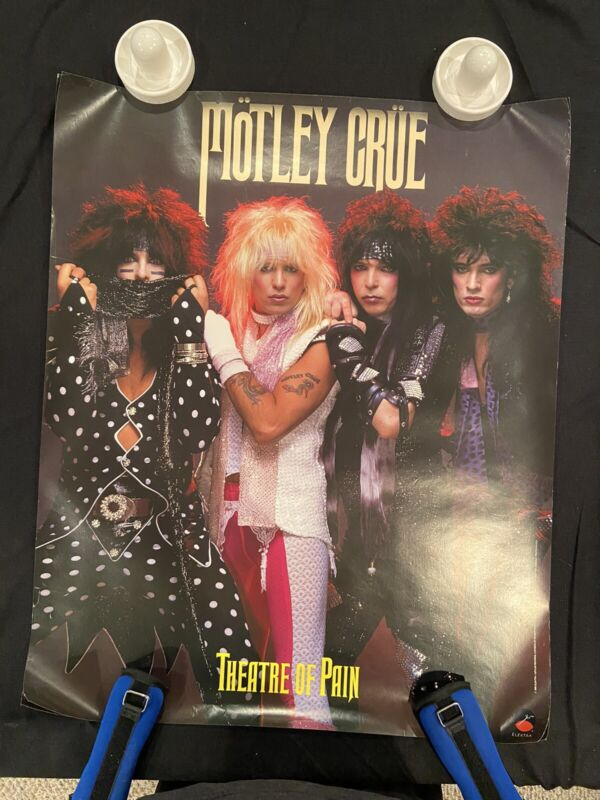 Motely Crue Theater of Pain Poster Original Vintage 27 X 33 In.  Record Store