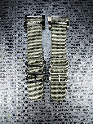 2 Piece Watch Set (Suunto Core 2-Piece Nylon Diver Strap 3 Ring Watch Band Lugs Adapter Set Grey )