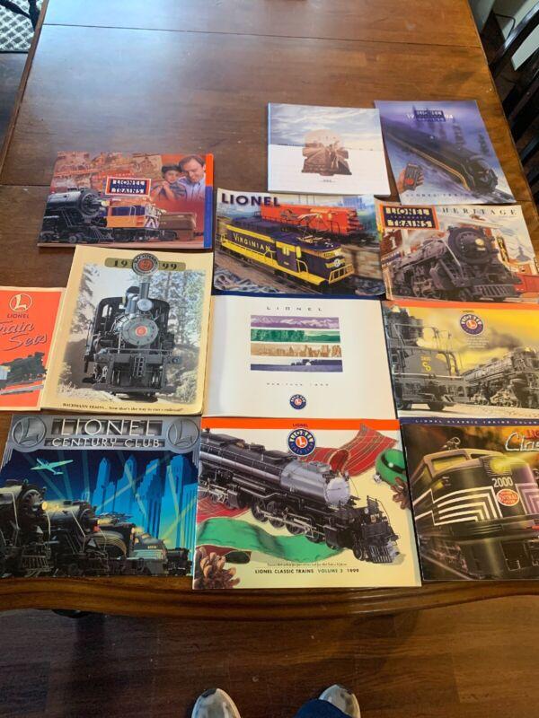 Lot Of 12 Vintage Lionel Train Catalogs  1990s Railroad