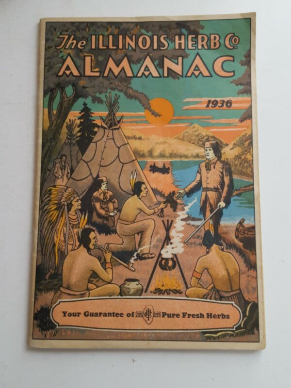 1936 Original The ILLINOIS HERB Co  ALMANAC  Herbs for Health!