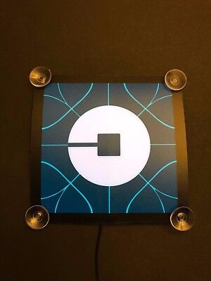 Glowing Uber Driver  New Logo  Led Light Sign Usb Powered  Suction Cups