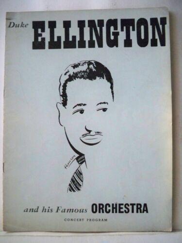 DUKE ELLINGTON AND HIS FAMOUS ORCHESTRA Souvenir Program CONCERT TOUR 1951