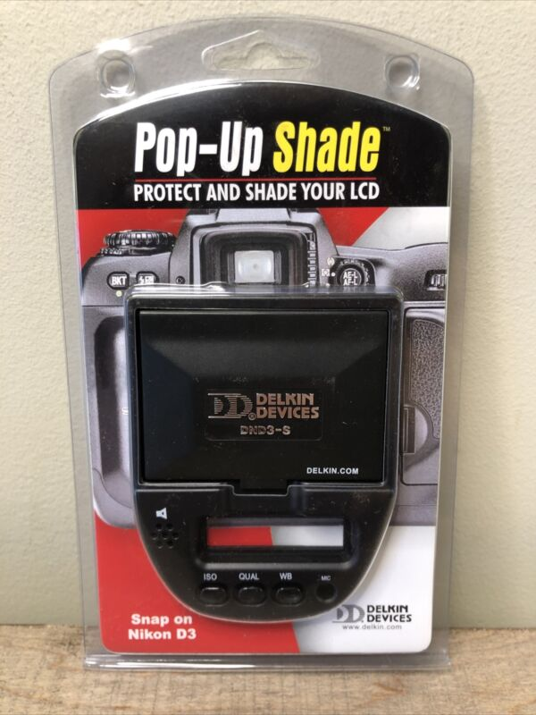 Delkin Snap-On Pop-Up Shade for Nikon D3 - DND3-S New Sealed