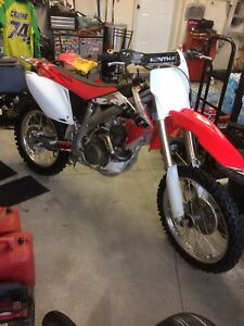 2007 Honda crf450 with ownership . Cash or Trade