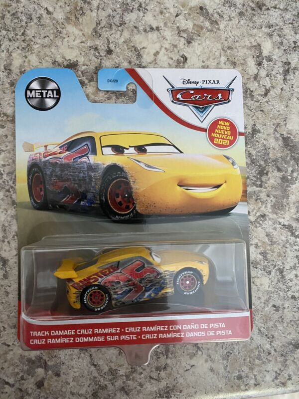 Disney Pixar Cars - TRACK DAMAGE CRUZ RAMIREZ - 2021 Metal Series NEW HTF F/S