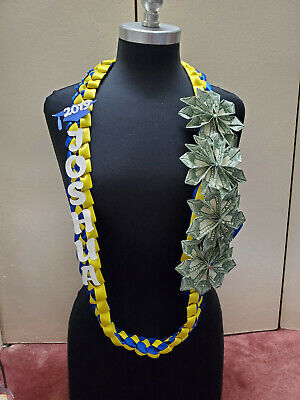 Graduation Money Lei - Customized with Name and Colors of Ribbons](Custom Ribbons)