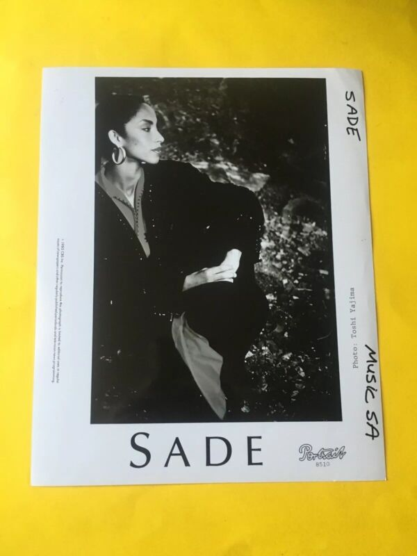 Sade Press Photo 8x10, Portrait Records 1985.