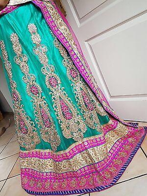 Bollywood Kleid Lehenga Choli Salwar Kameez Lehnga Rock Sari Saree Hennaabend Rock Sari Saree