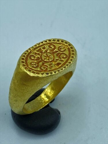 Rare Old Vintage Antique Jewelry Gold Ring Of Ancient Pyu Culture Period Burma