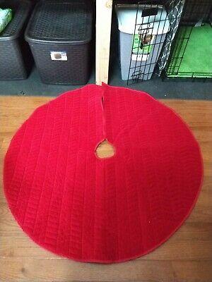 Red Velvet ChristmasTree Skirt 48in
