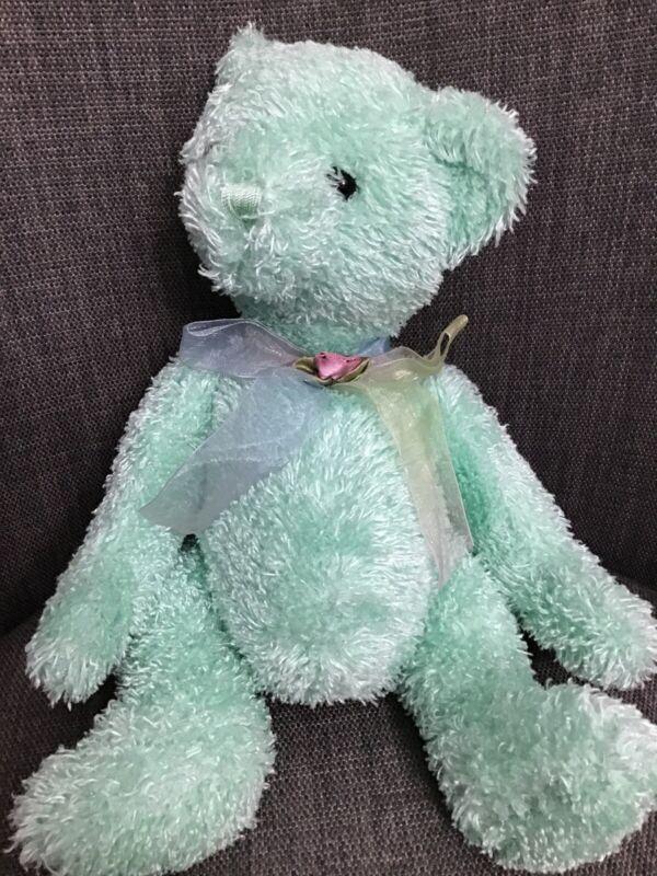 "Animal Alley Toy S R Us Mint Green Teddy Bear 12"""
