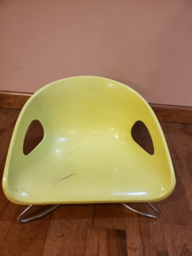 Vintage Cosco Booster Seat Toddler Baby Chair MCM Mid Century Retro yellow