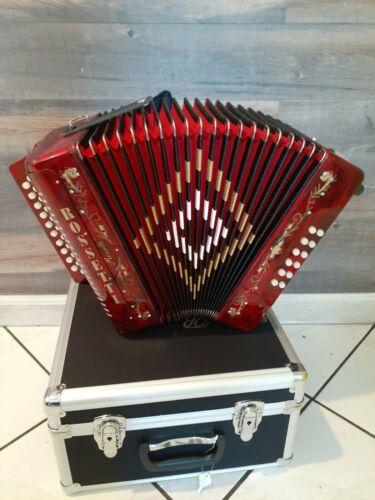 Rossetti accordion 3112 Red with case and straps GFC