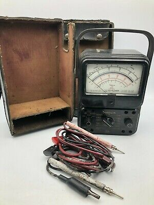 Vintage Simpson Model 270 Series 3 Analog Meter Multimeter With Leads C1