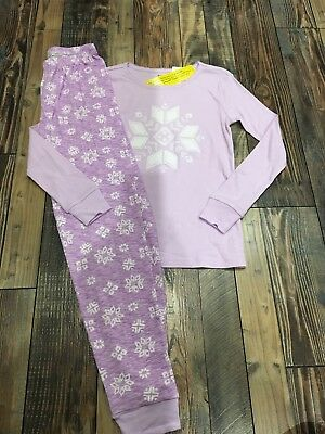 Girls Holiday Pajamas (Gymboree Christmas Holiday Girls Purple Snowflakes Pjs Pajamas Nwt Size)
